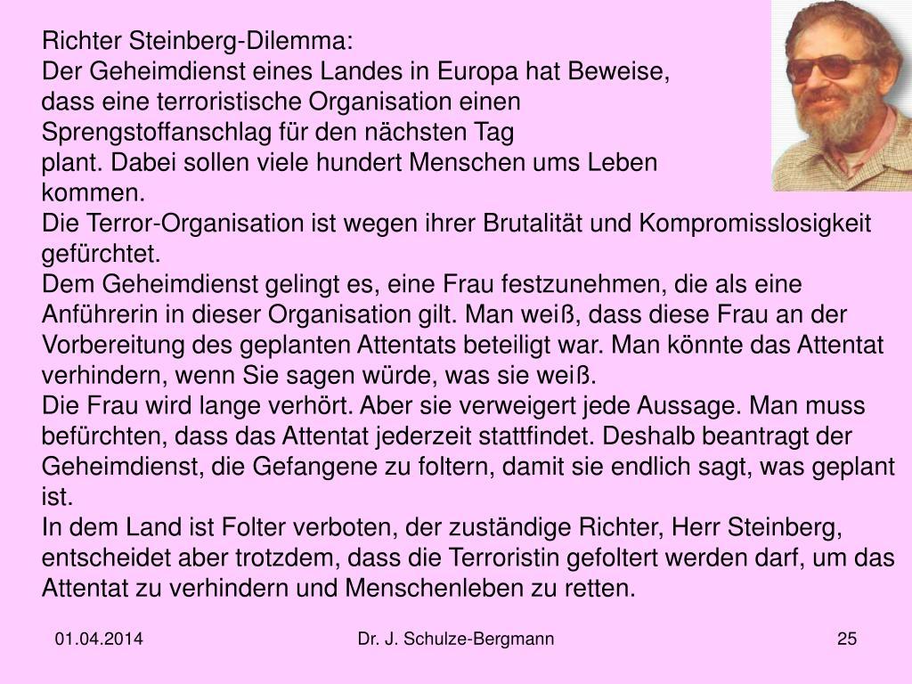 Richter Steinberg-Dilemma: