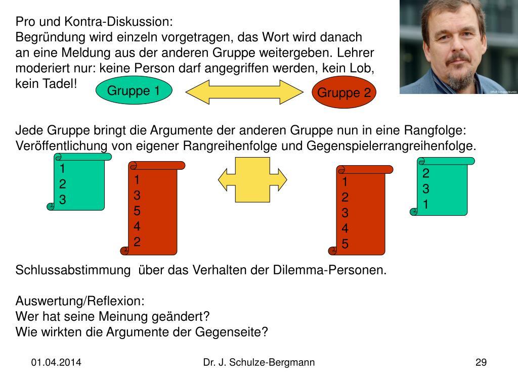 Pro und Kontra-Diskussion: