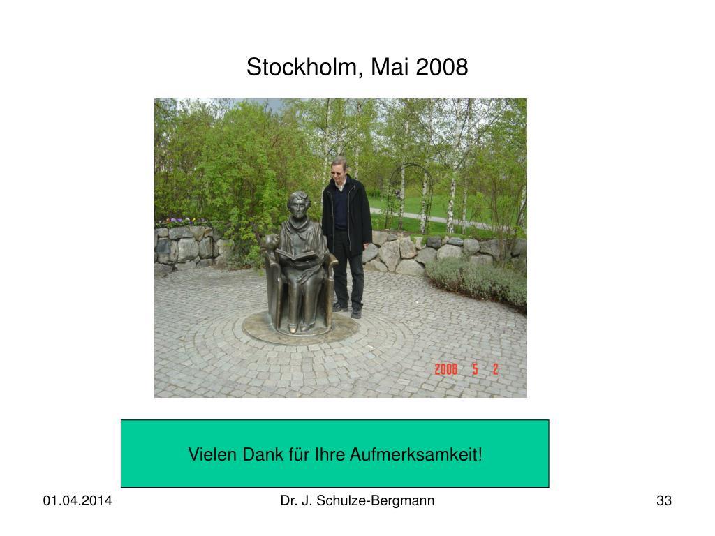 Stockholm, Mai 2008