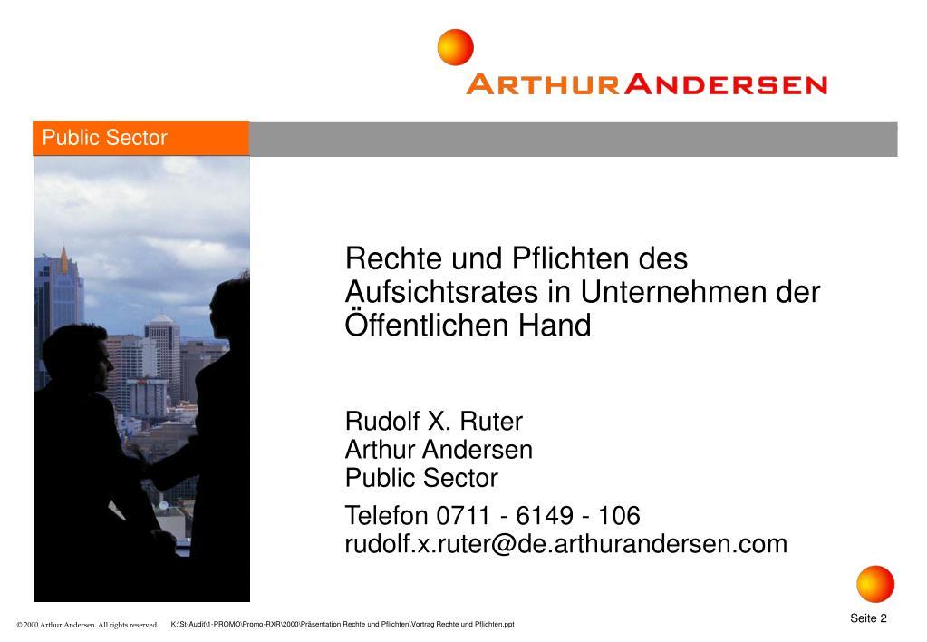 Rechte und Pflichten des Aufsichtsrates in Unternehmen der Öffentlichen Hand