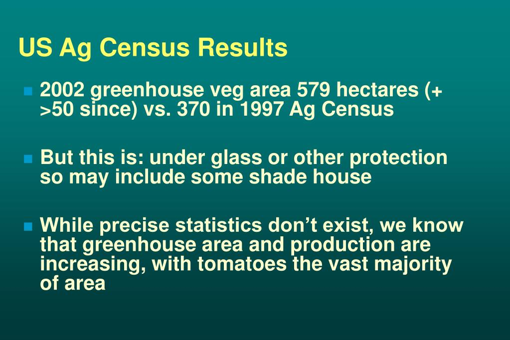 US Ag Census Results