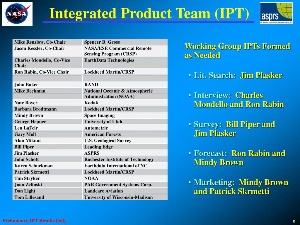 Integrated Product Team (IPT)