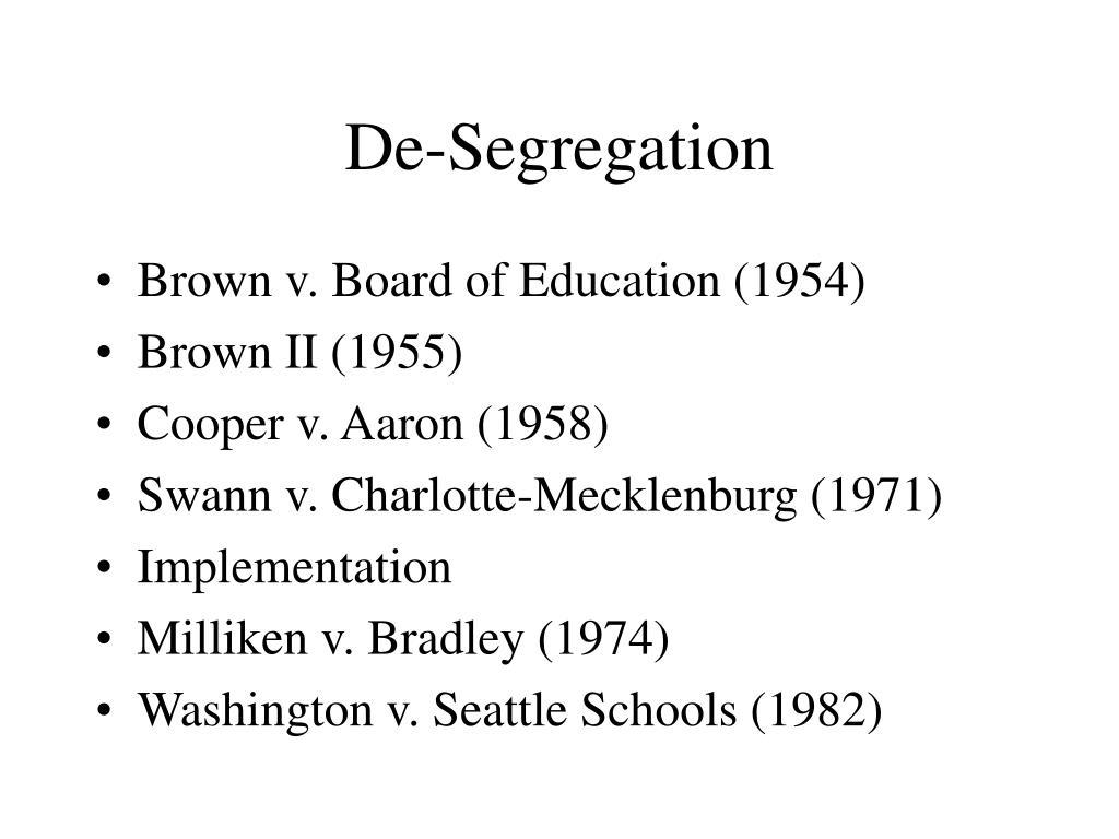 De-Segregation