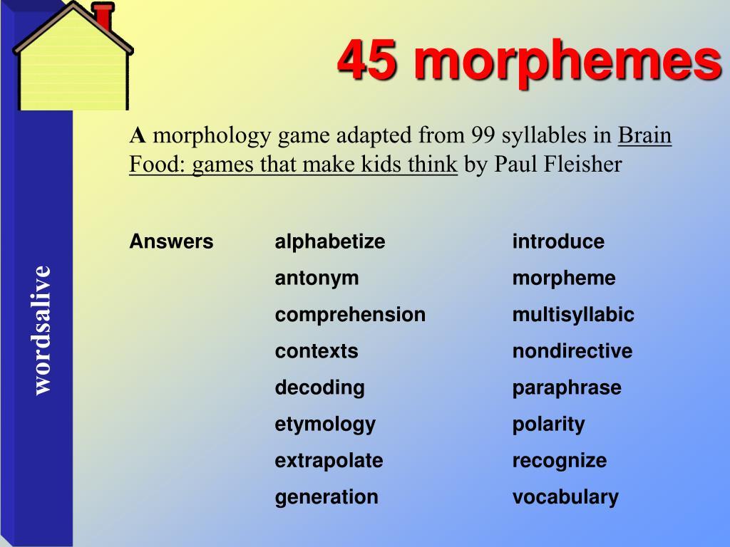 45 morphemes