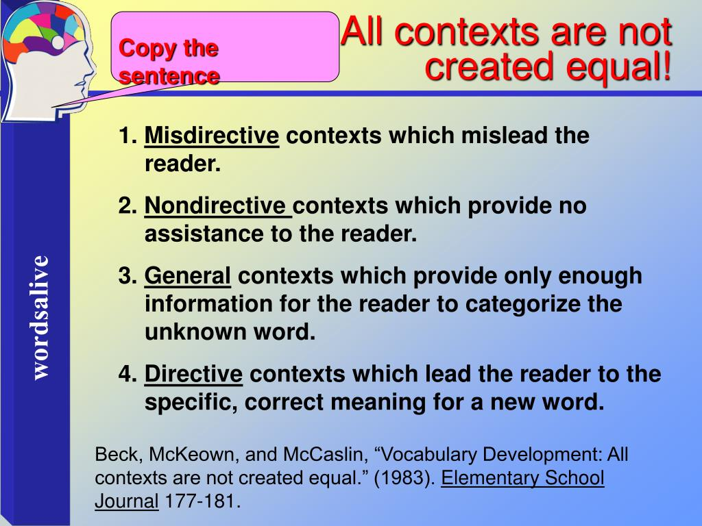 All contexts are not            created equal!