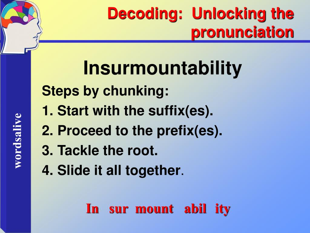 Decoding:  Unlocking the pronunciation