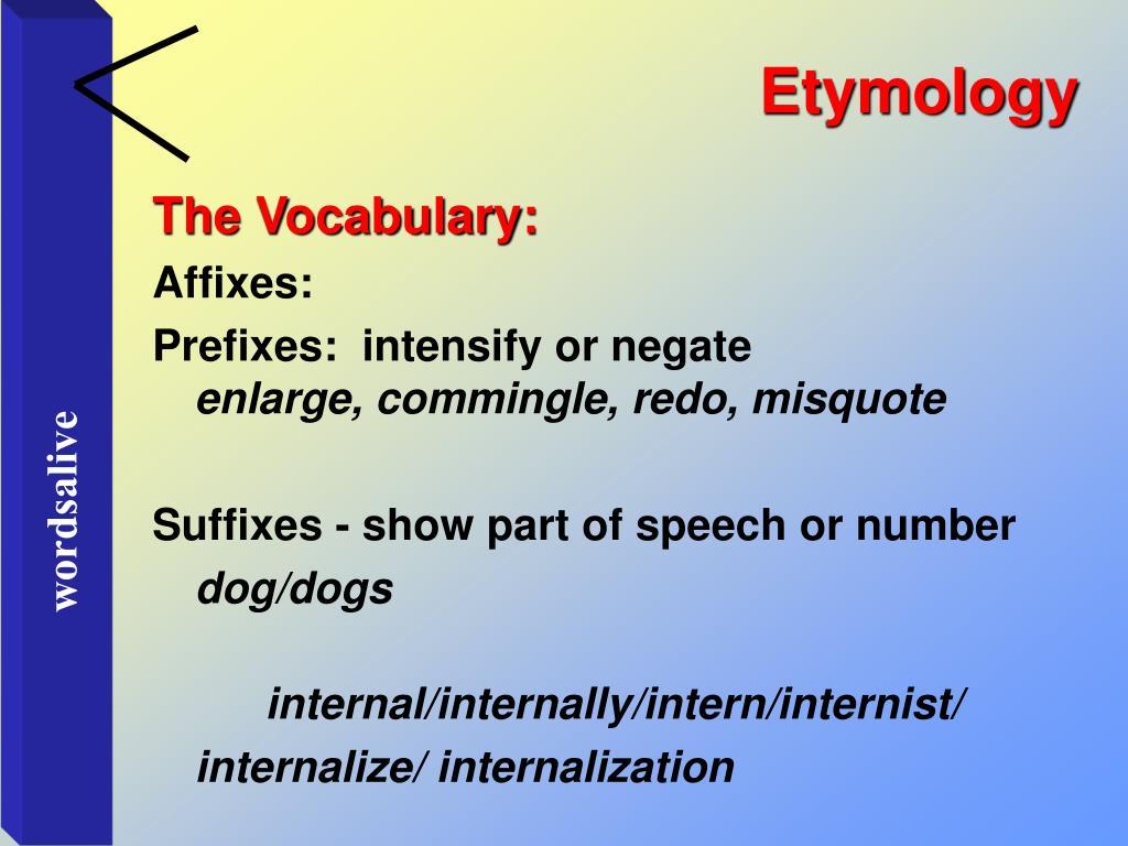 Etymology