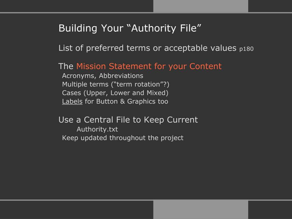 "Building Your ""Authority File"""