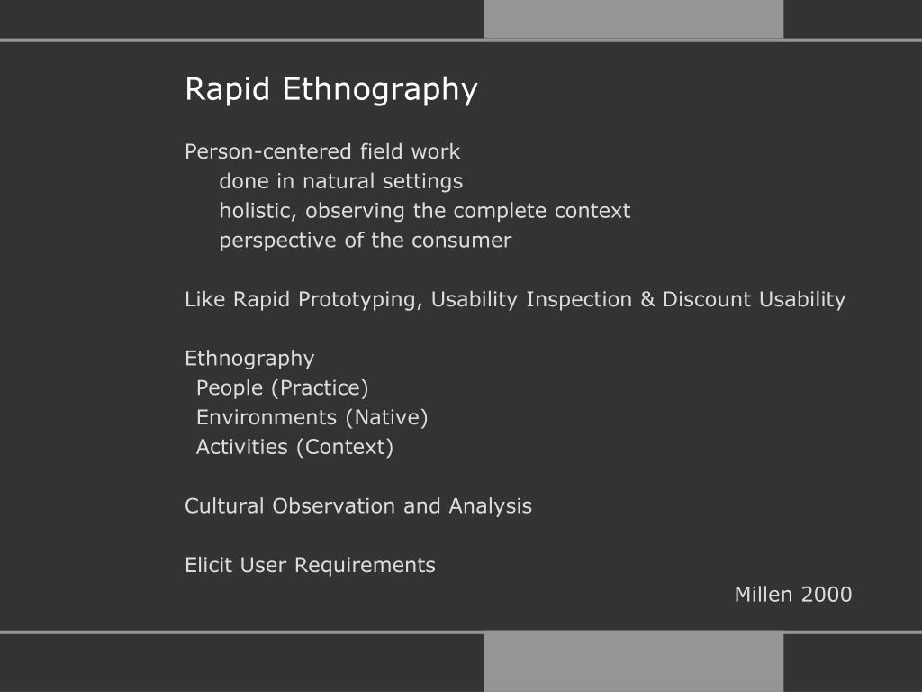 Rapid Ethnography