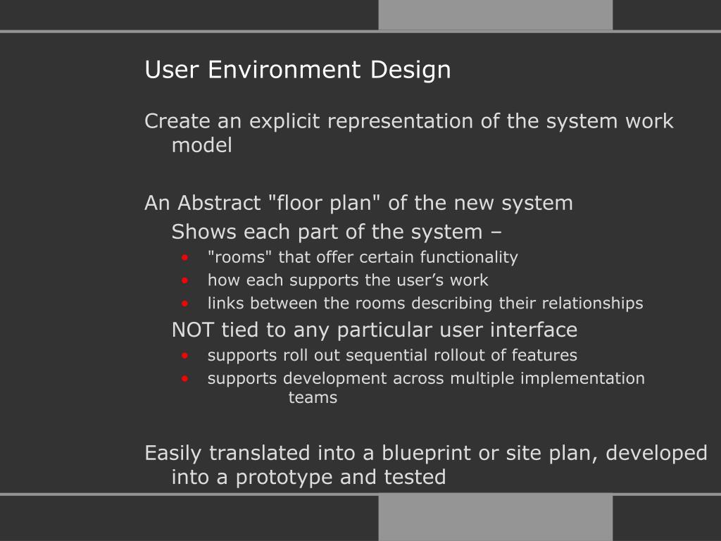 User Environment Design
