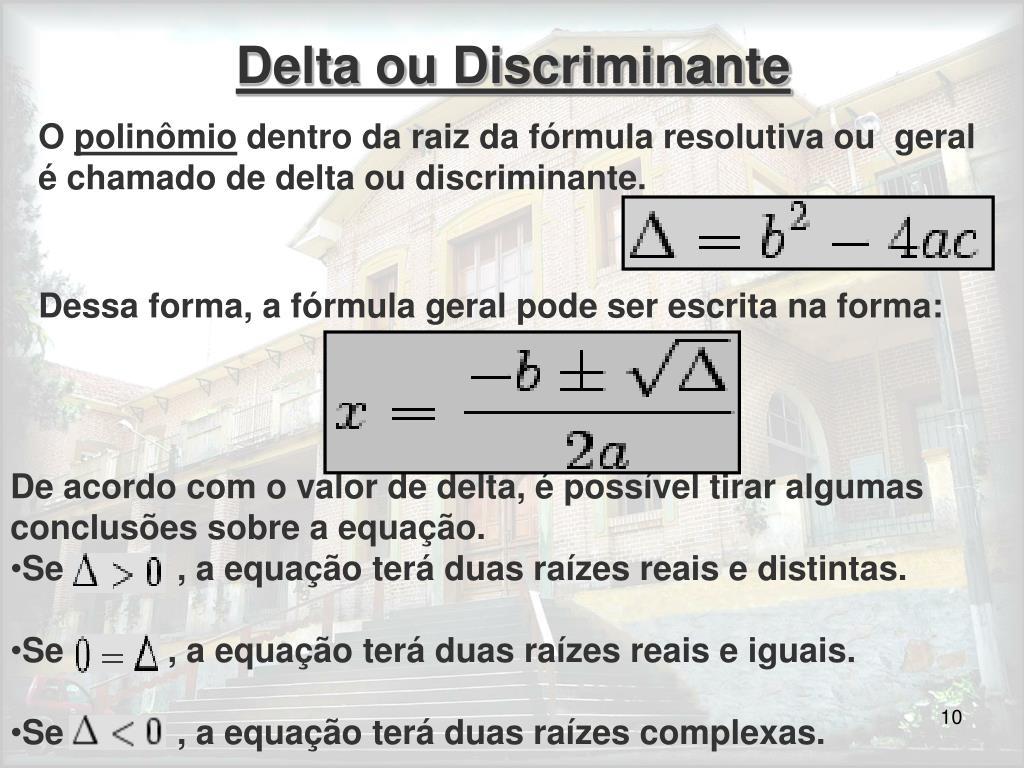 Delta ou Discriminante