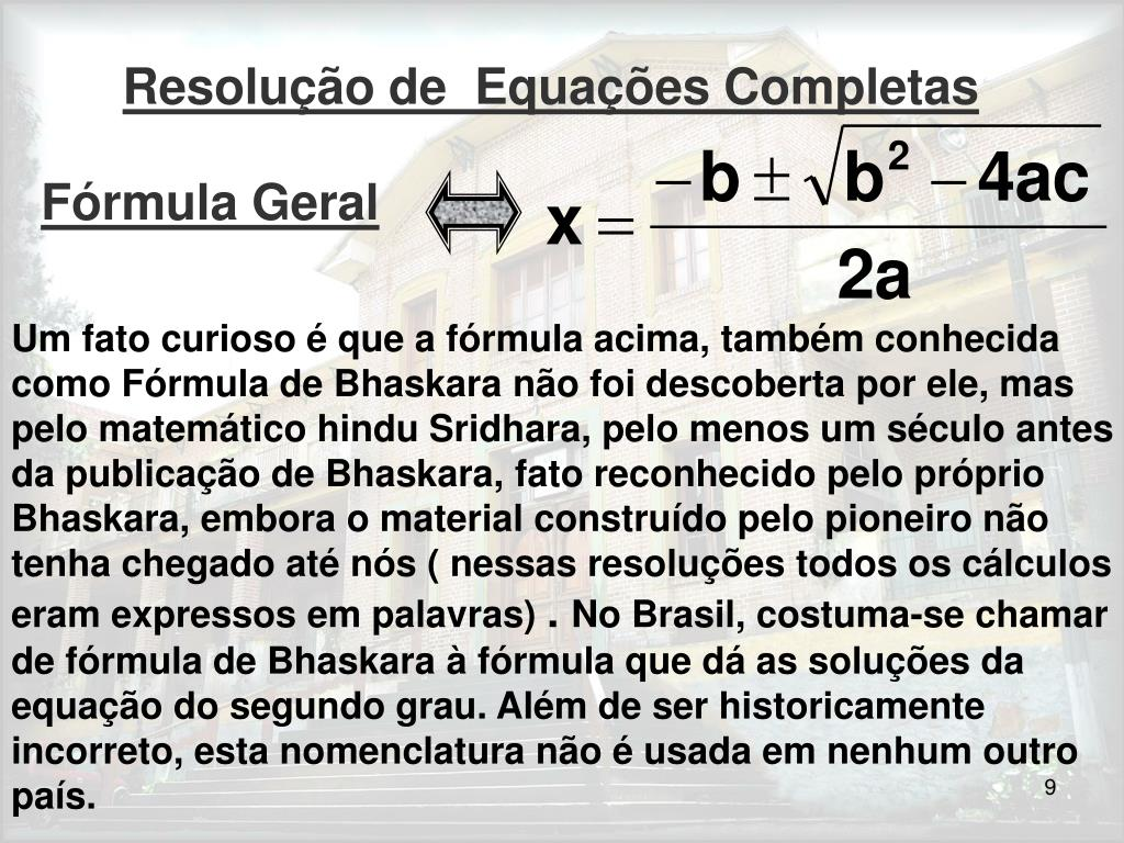 Fórmula Geral