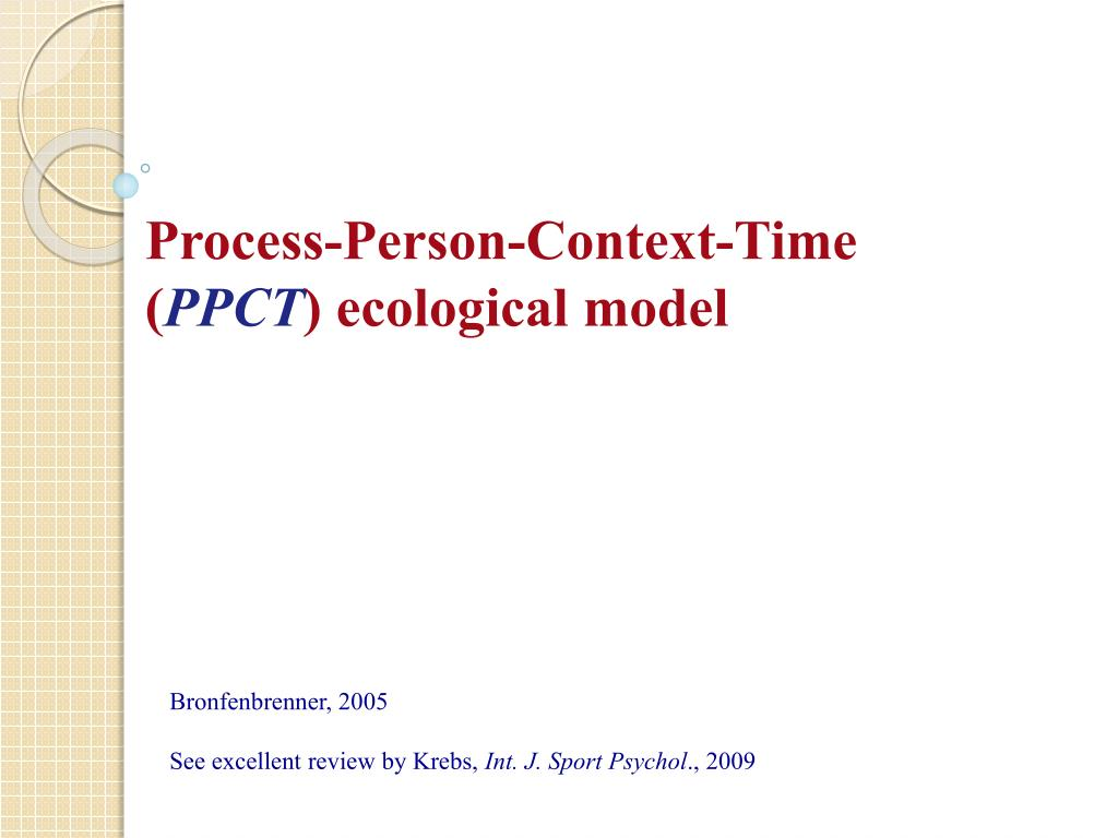 Process-Person-Context-Time (