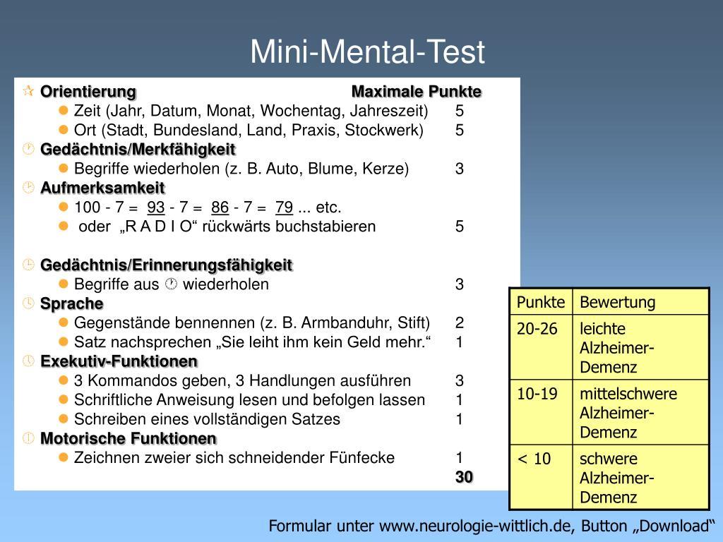 Mini-Mental-Test