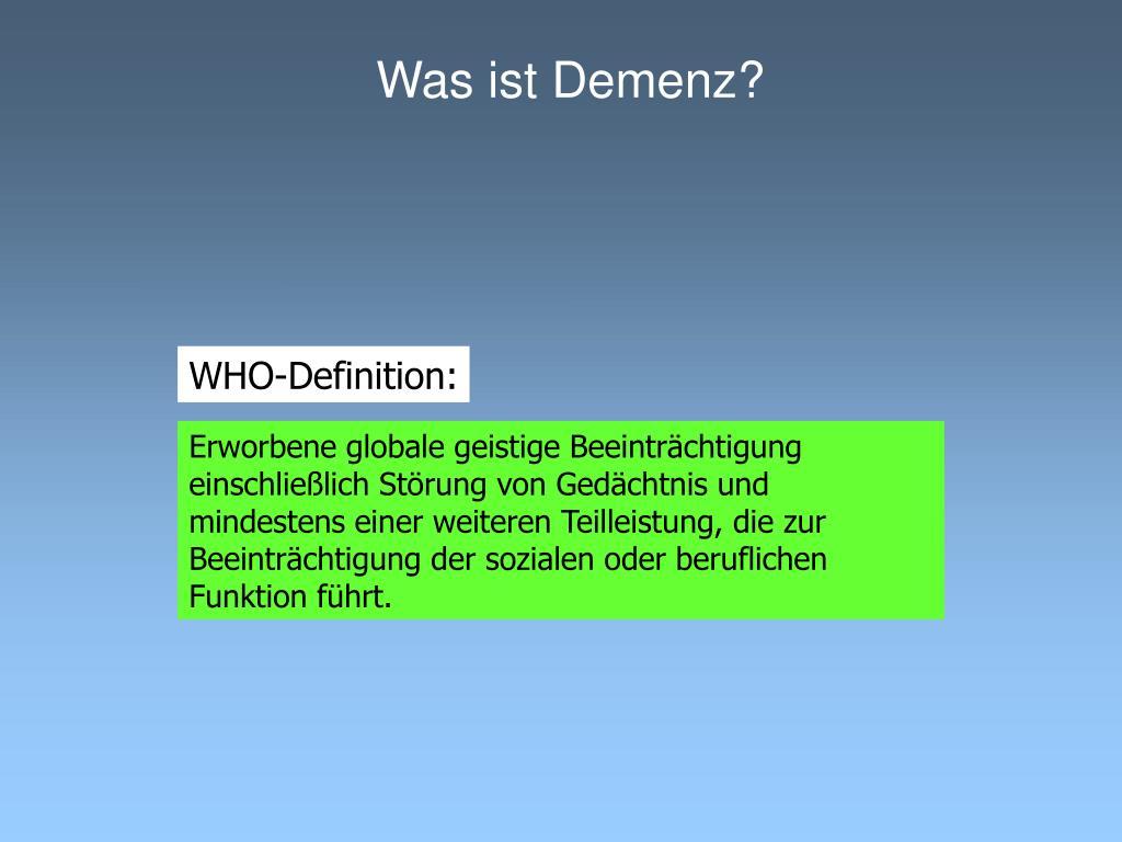 Was ist Demenz?