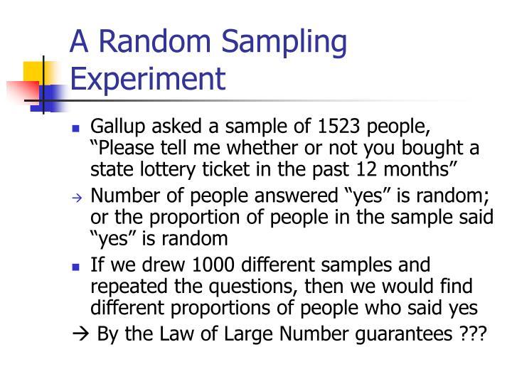A Random Sampling Experiment