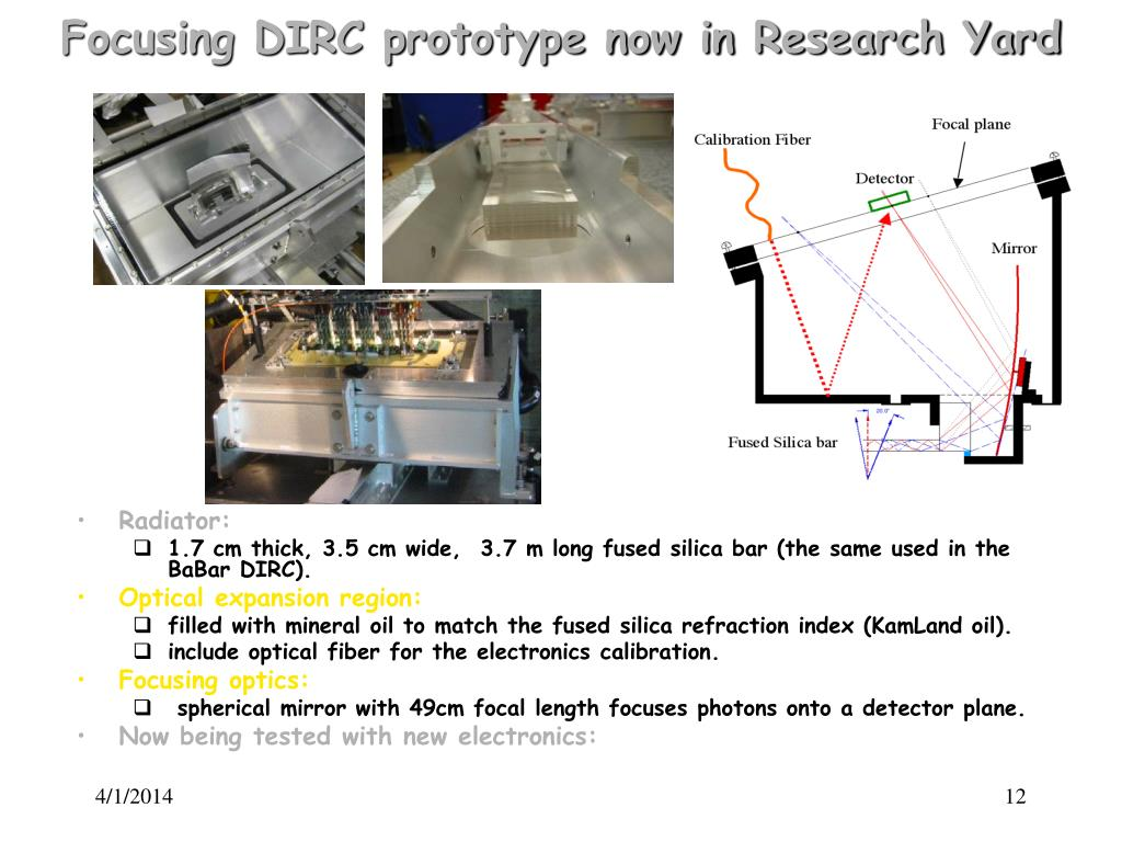 Focusing DIRC prototype now in Research Yard