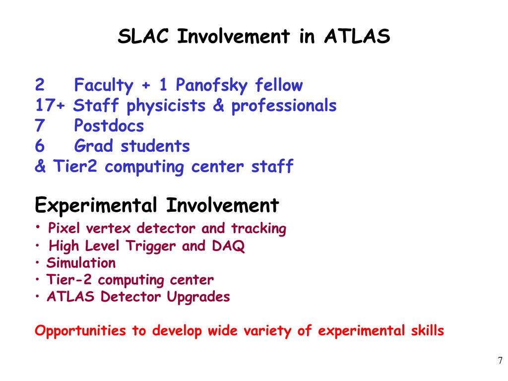 SLAC Involvement in ATLAS