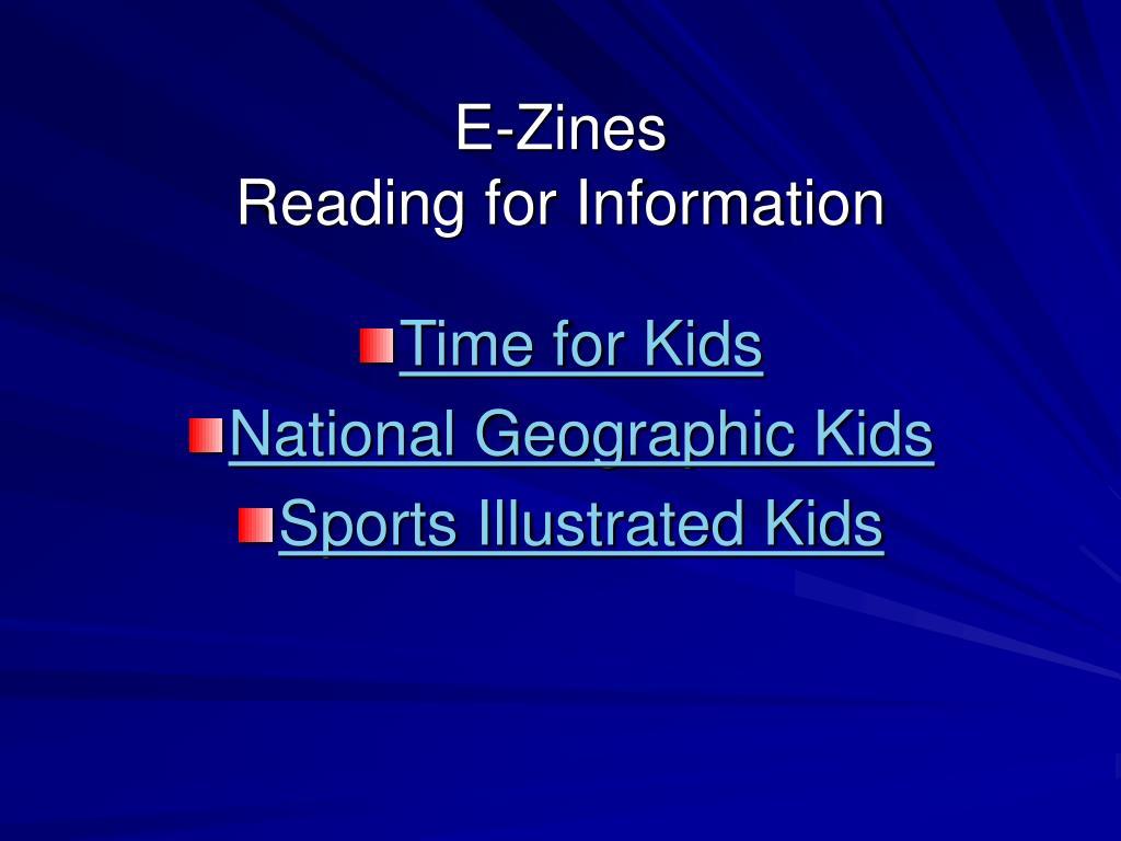 E-Zines
