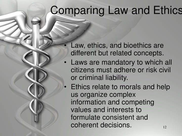 Comparing Law and Ethics