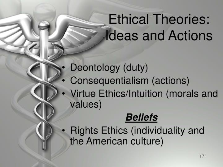 Ethical Theories: Ideas and Actions