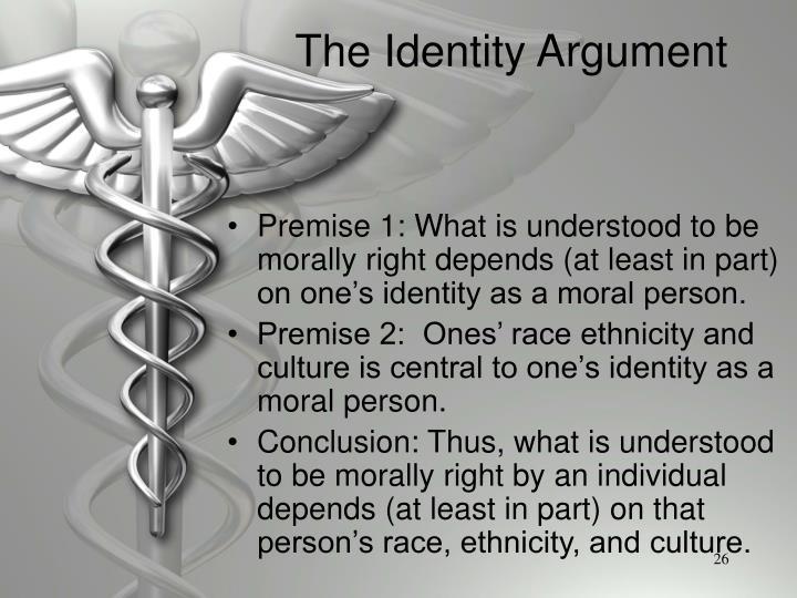 The Identity Argument