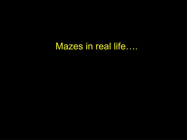 Mazes in real life
