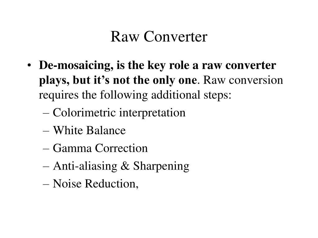 Raw Converter
