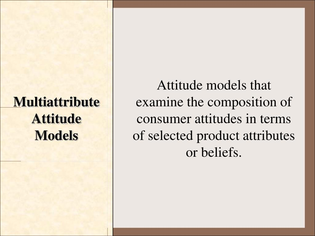 Multiattribute Attitude Models
