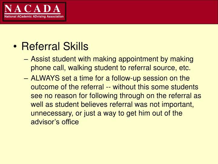 Referral Skills