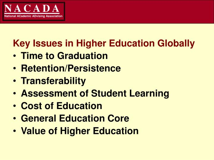 Key Issues in Higher Education Globally