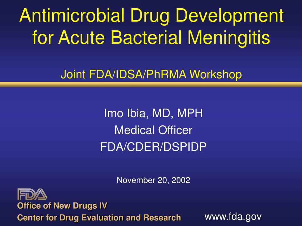 Antimicrobial Drug Development