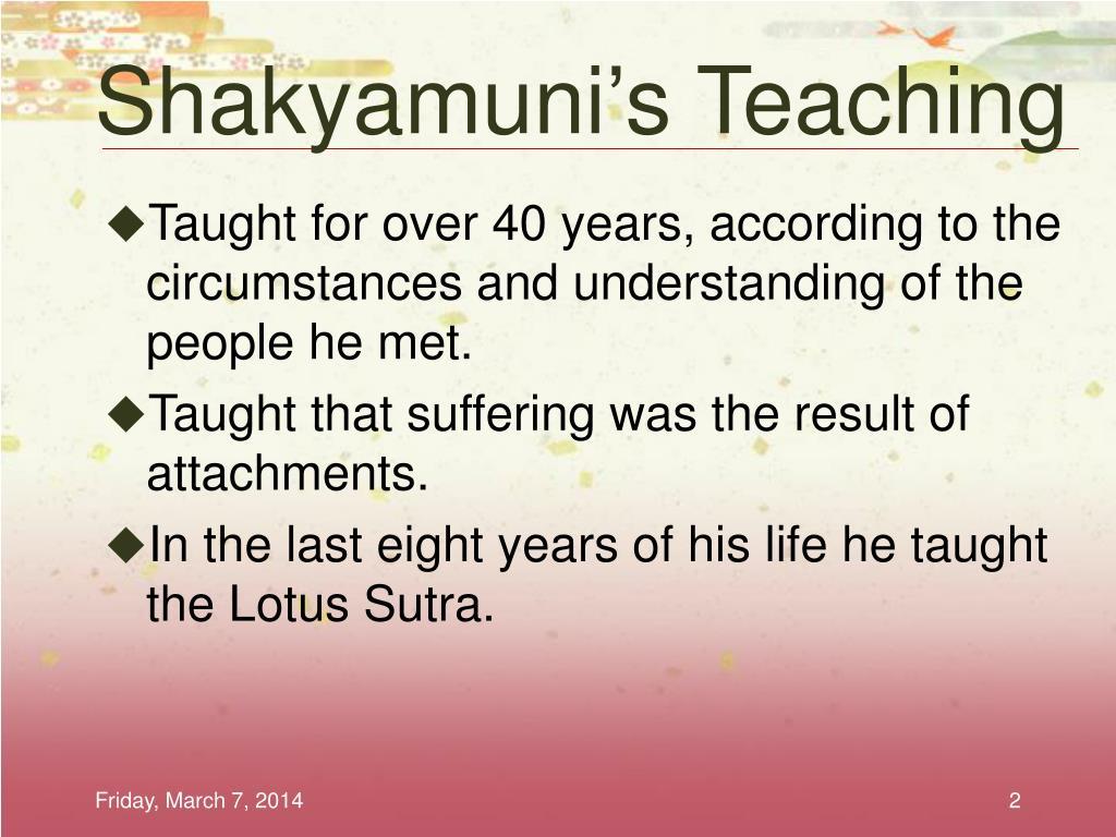Shakyamuni's Teaching
