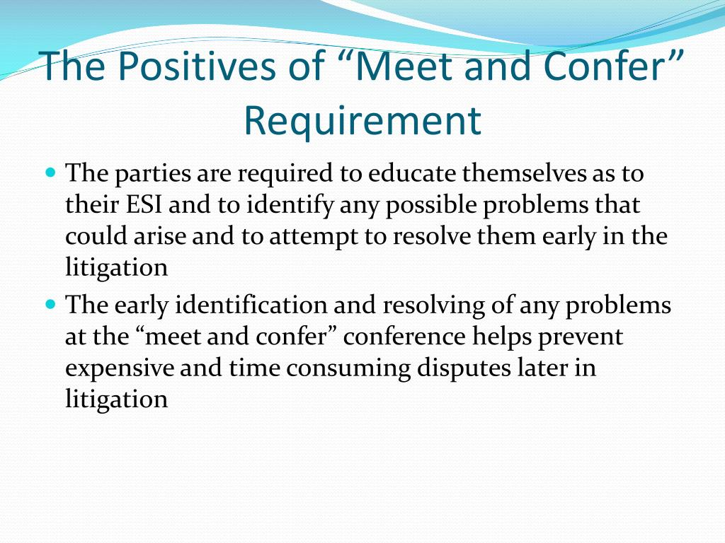 meet and confer rule