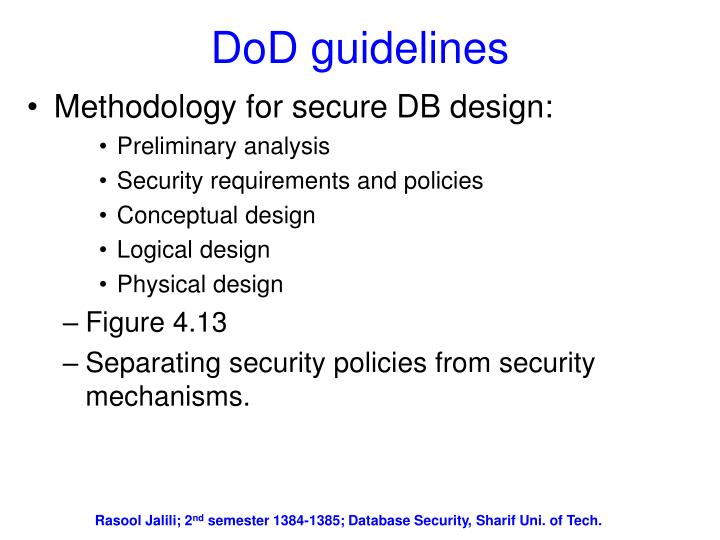 DoD guidelines