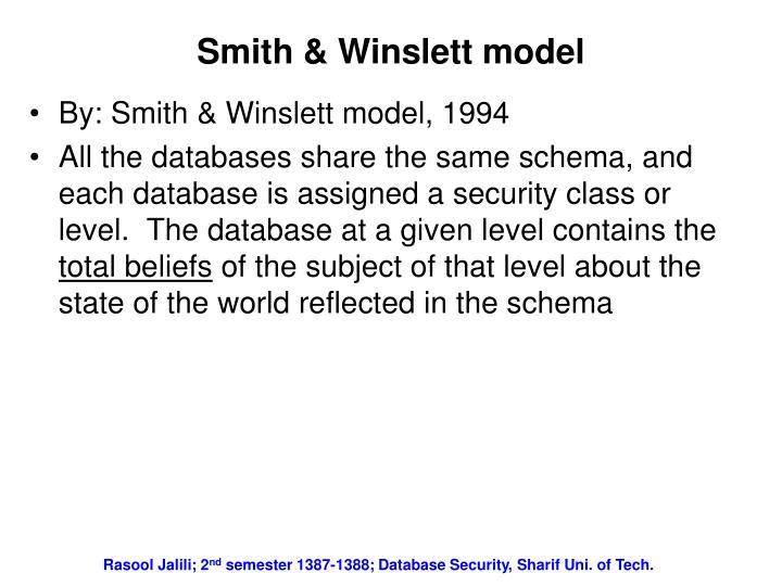 Smith & Winslett model