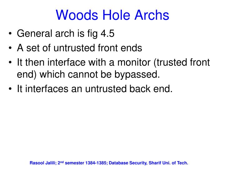 Woods Hole Archs