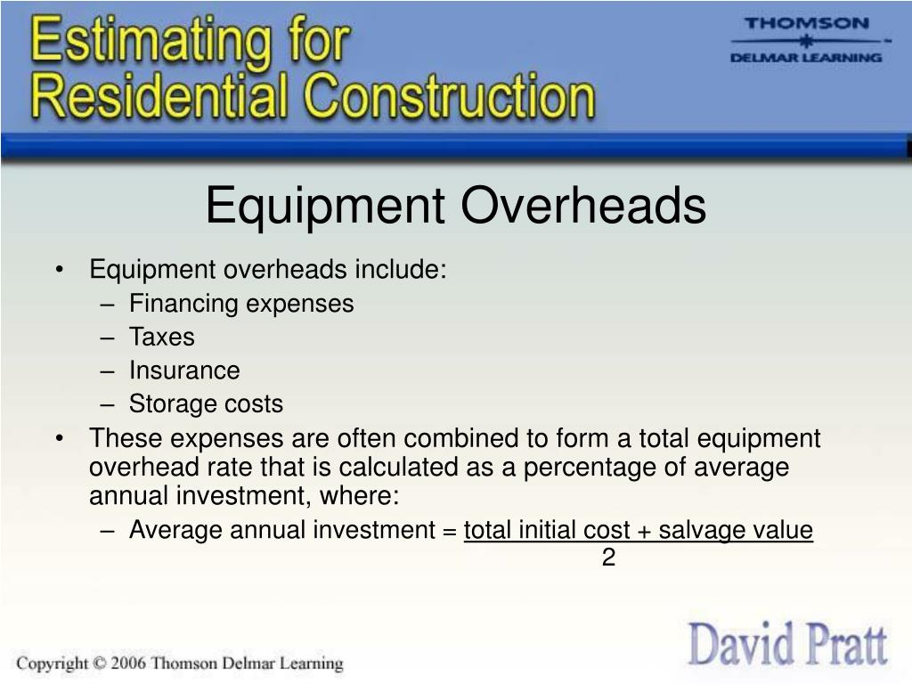 Equipment Overheads