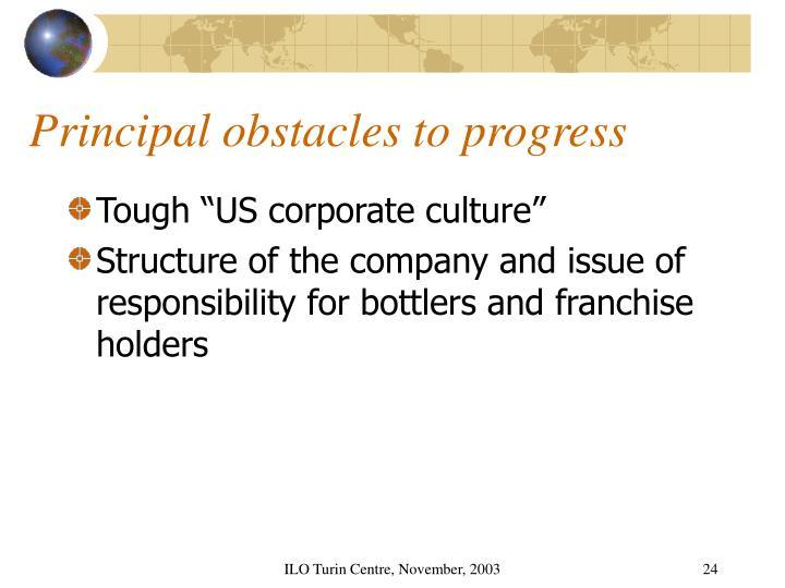 Principal obstacles to progress