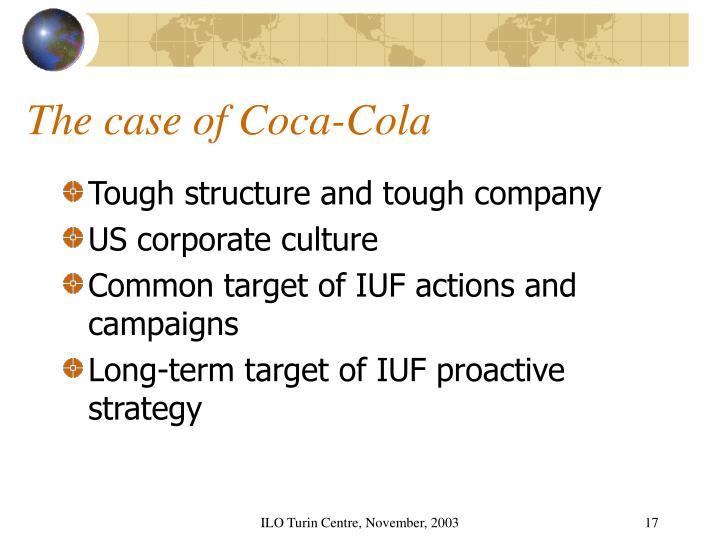 The case of Coca-Cola