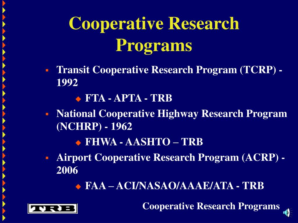 Cooperative Research Programs