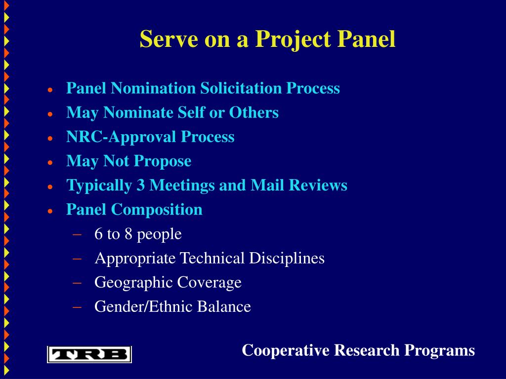 Serve on a Project Panel