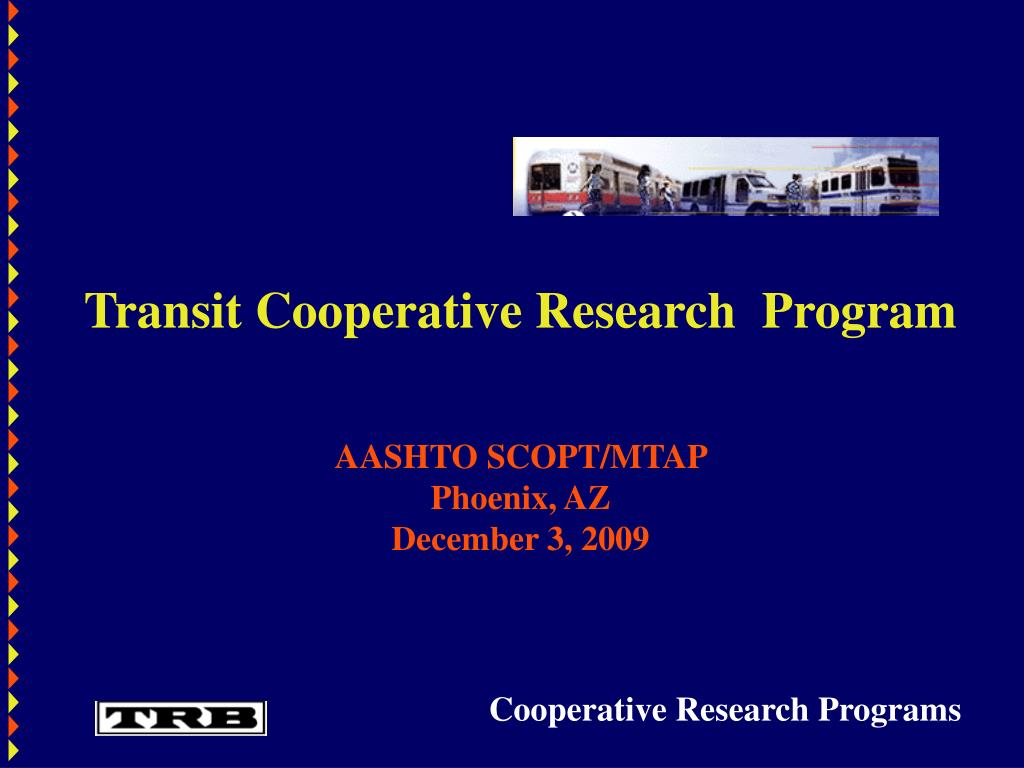 Transit Cooperative Research  Program