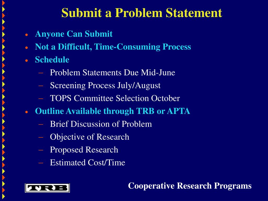Submit a Problem Statement