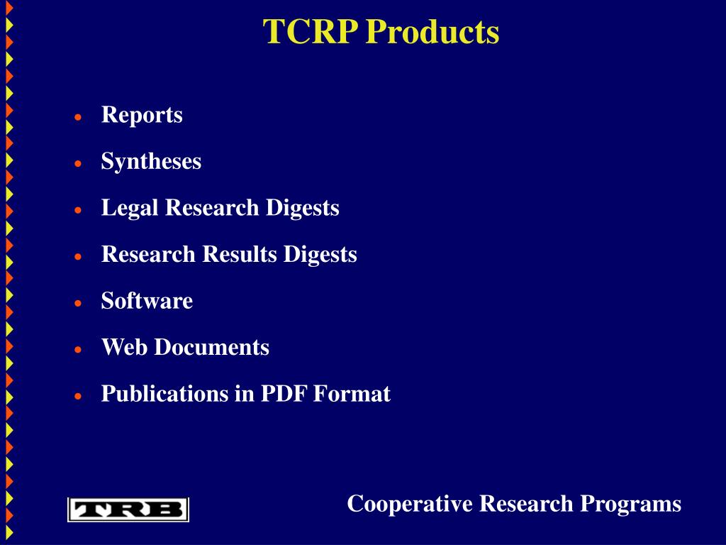 TCRP Products