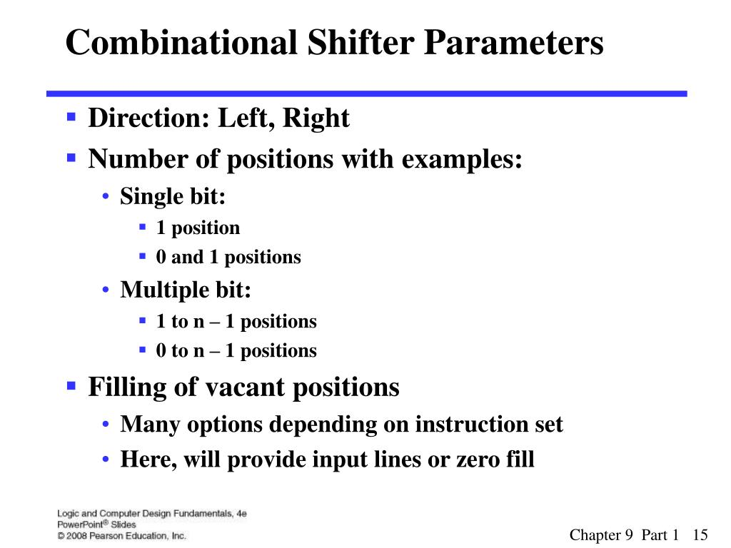 Combinational Shifter Parameters