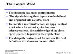 the control word