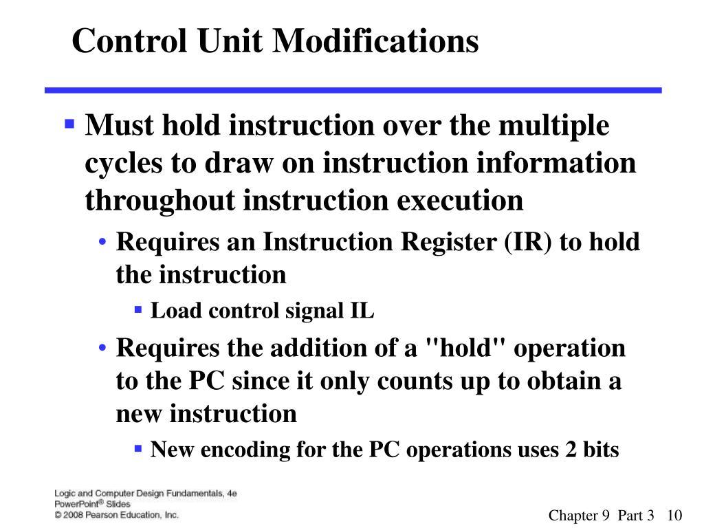 Control Unit Modifications