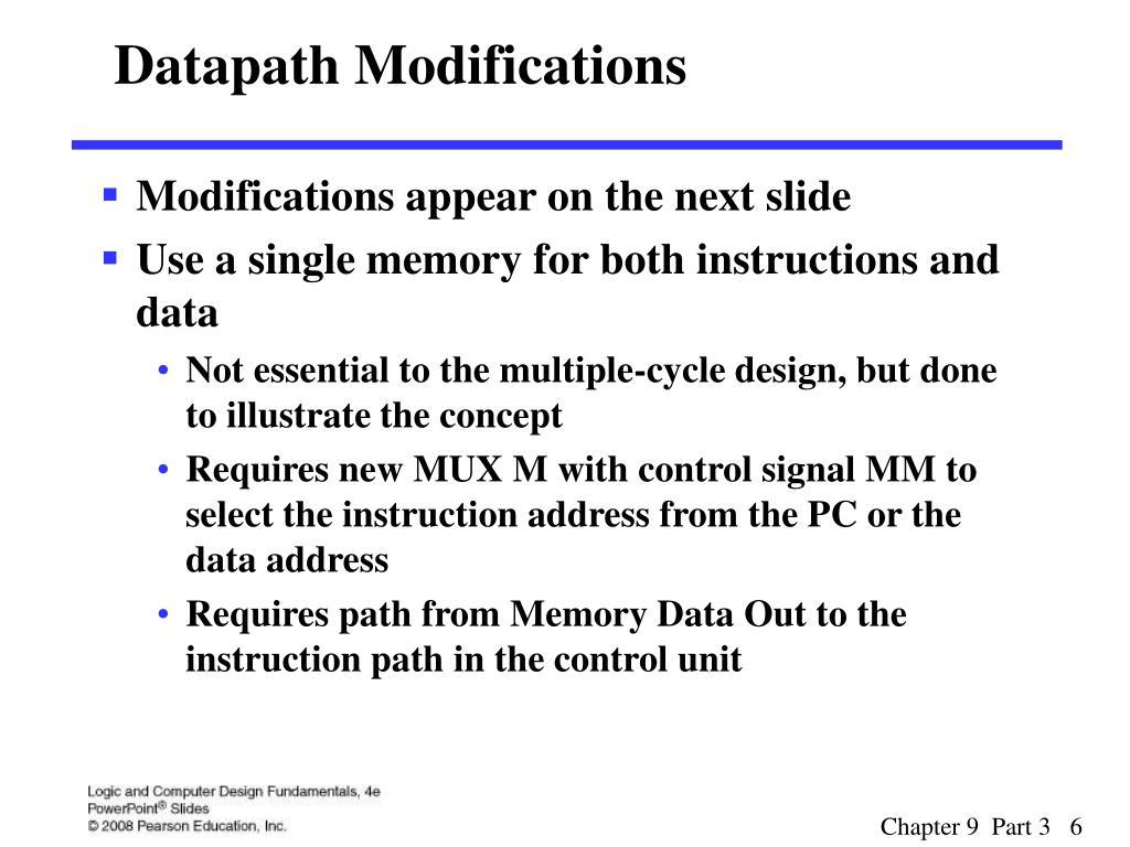 Datapath Modifications