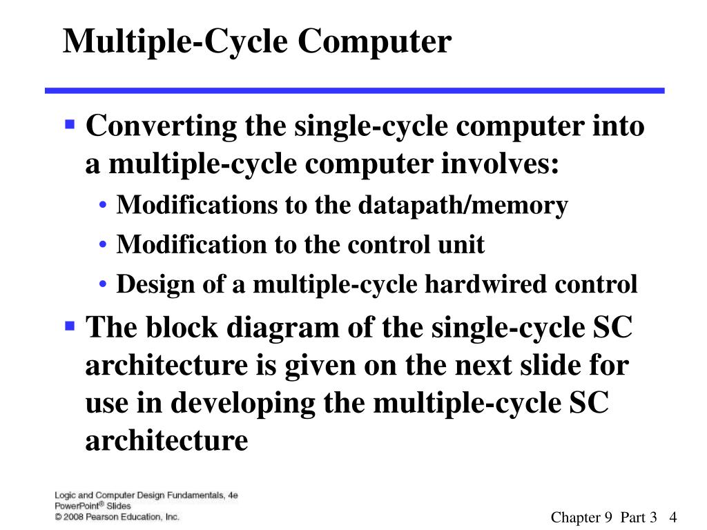 Multiple-Cycle Computer